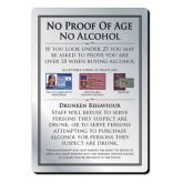 No Proof Of Age No Alcohol Sign