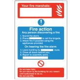 Rigid Fire Action Sign.