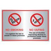 No Smoking No Vaping Sign.