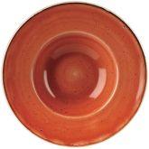 "Churchill Stonecast Spiced Orange Wide Rim Bowl 9.5"" (12)"