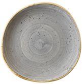 Churchill Stonecast Peppercorn Grey Organic Round Plate 8.25