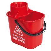Jangro Red Professional Mop Bucket & Wringer 15ltr