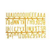 "Yellow Peg Board Letter Set 1 1/4"" Letters"
