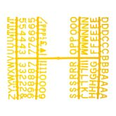 "Yellow Peg Board Letter Set 1/2"" Letters"