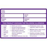 Food Prep Allergen Warning Label (500)