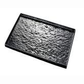 Black Melamine Presentation Plate 1/2 Size