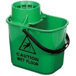 Jangro Professional Green Mop Bucket & Ringer 15 Litre