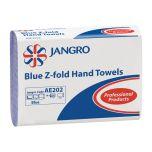 Jangro Blue Z-Fold Hand Towels 1ply