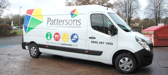 Pattersons Cleaning and Catering Supplies Next Day Delivery